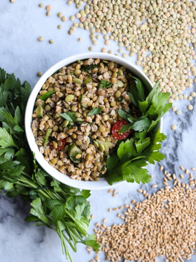 Herbed_Green_Lentil_Farro_Salad_FromMyBowl