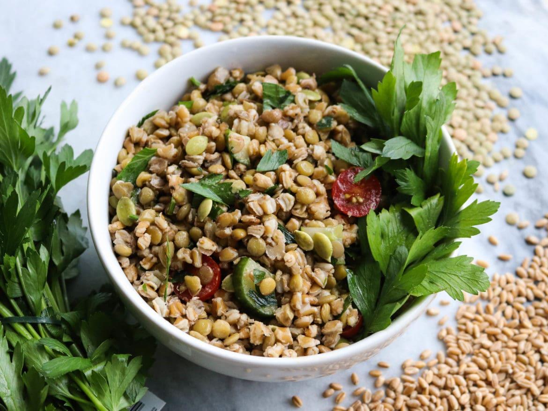 Herbed_Green_Lentil_Farro_Salad_FromMyBowl-3