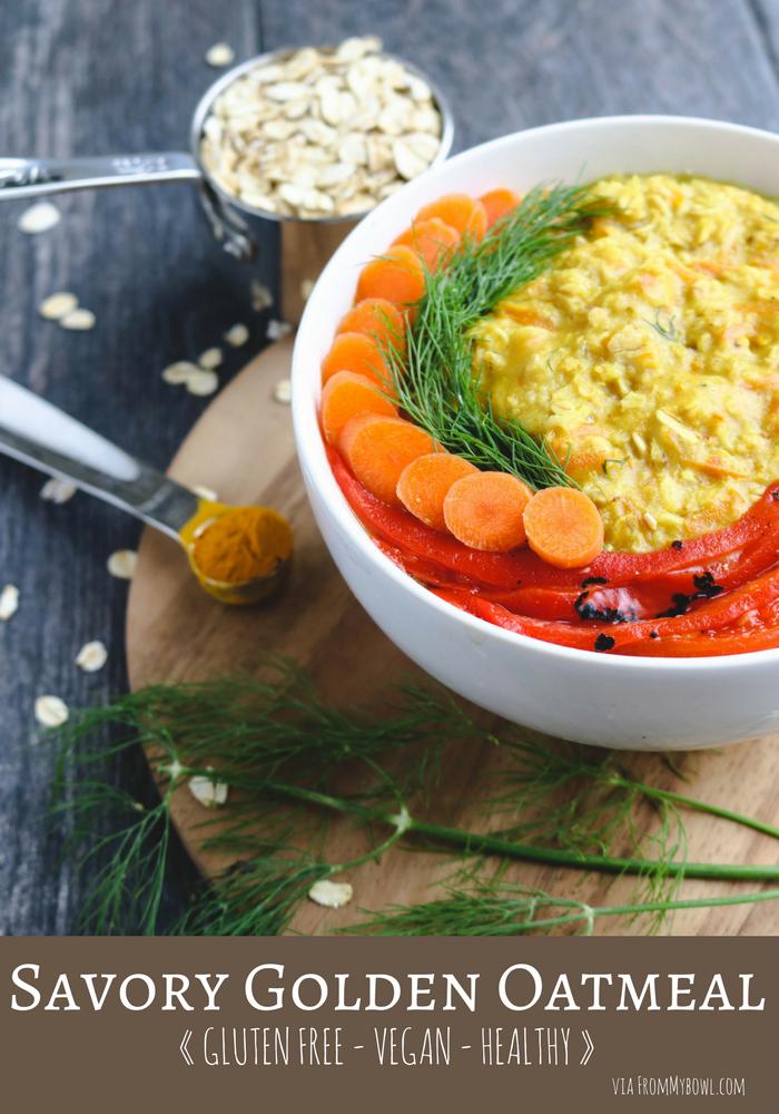 Savory_Golden_Oatmeal_GlutenFree_Healthy_Breakfast_FromMyBowl