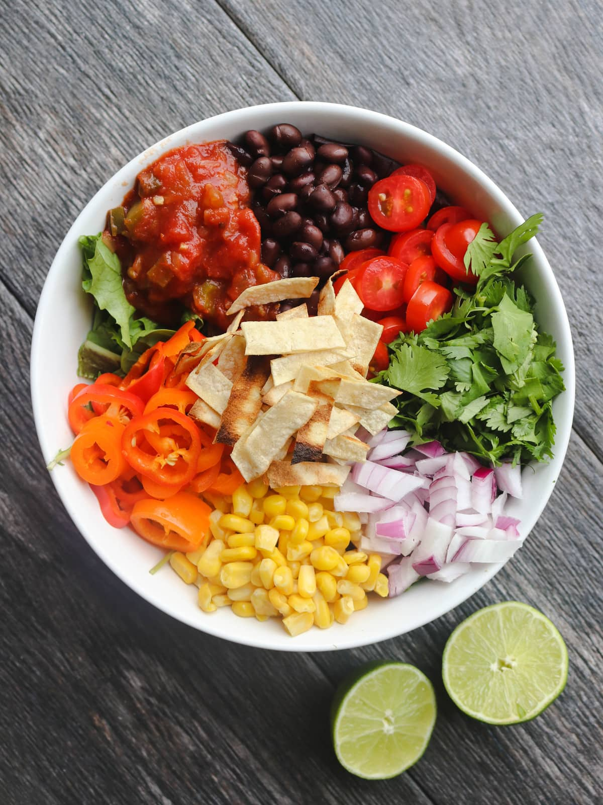 Black Bean Taco Salad Mexican Inspired Budget Friendly Vegan Meals FromMyBowl