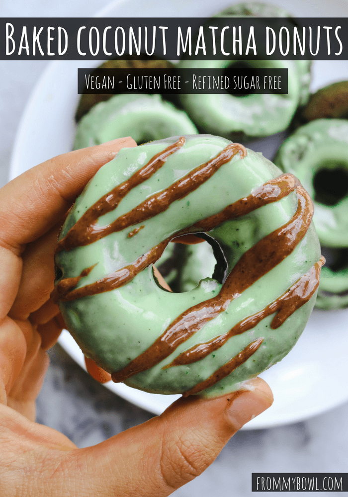Baked Coconut Matcha Donuts Gluten Free Vegan From My Bowl