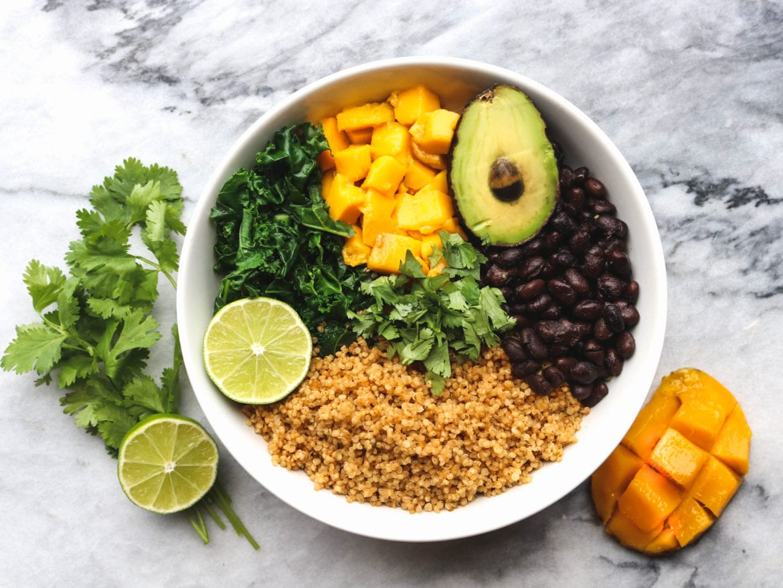 Savory Mango Buddah Bowl Chipotle Quinoa Gluten Free Vegan