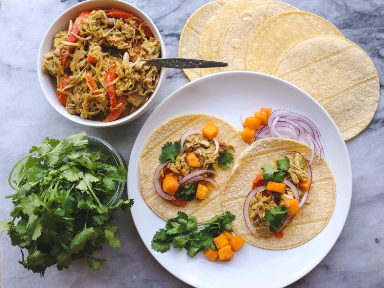 Mango Curry Jackfruit Tacos Gluten Free Vegan