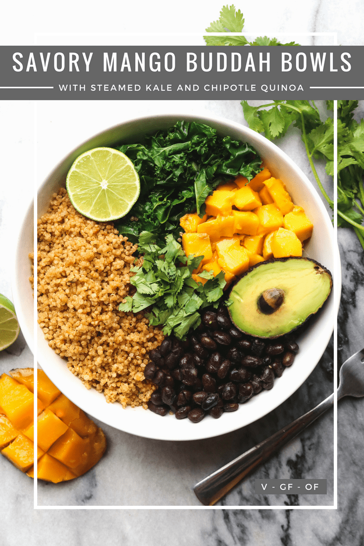 Savory Mango Buddha Bowl Gluten Free Vegan