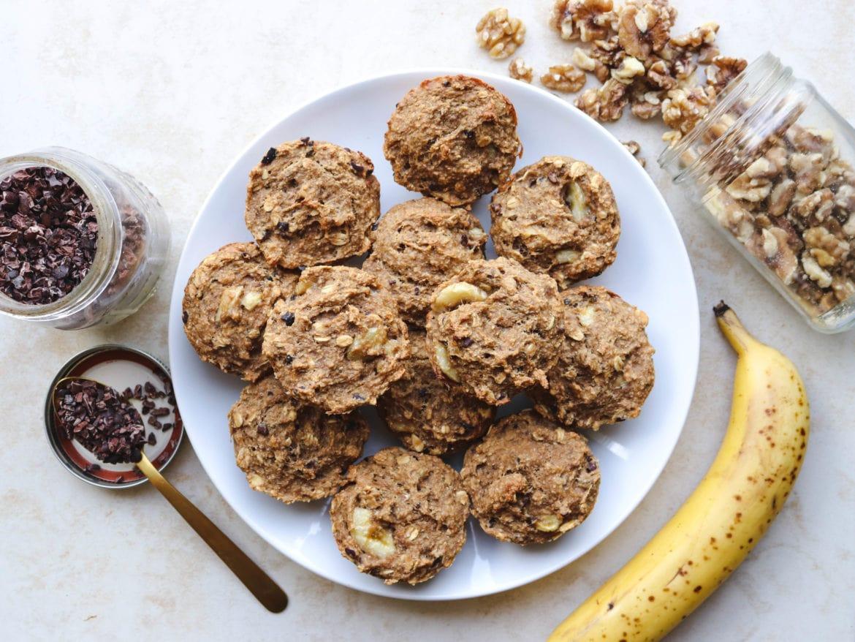 chunky monkey banana bread muffins vegan gluten free