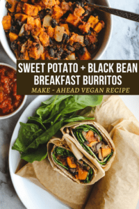 Sweet Potato Black Bean Breakfast Burritos Vegan