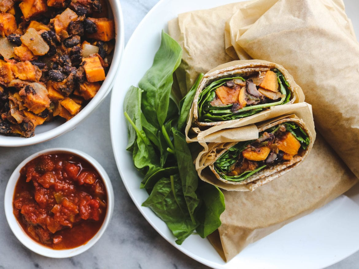 Sweet potato and black bean vegan breakfast burritos from my bowl sweet potato and black bean vegan breakfast burritos forumfinder Images