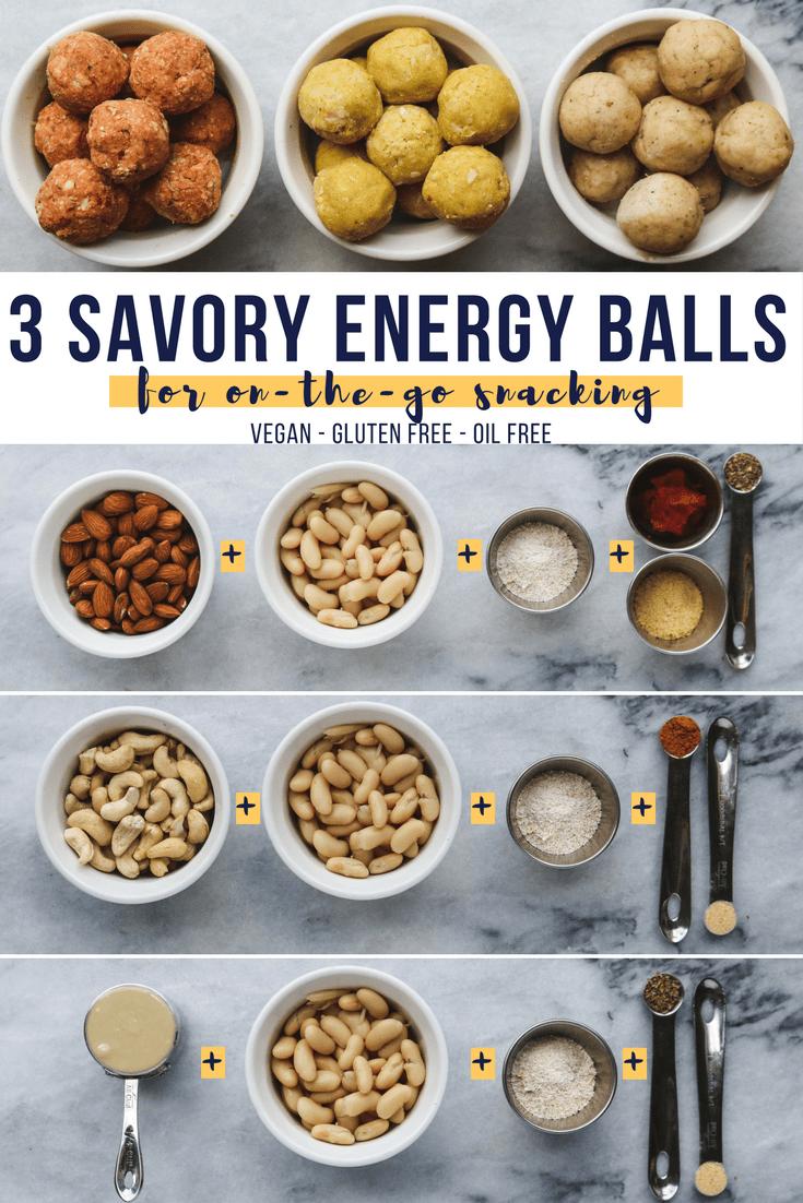 Savory Energy Ball Bliss Ball Vegan Pinterest