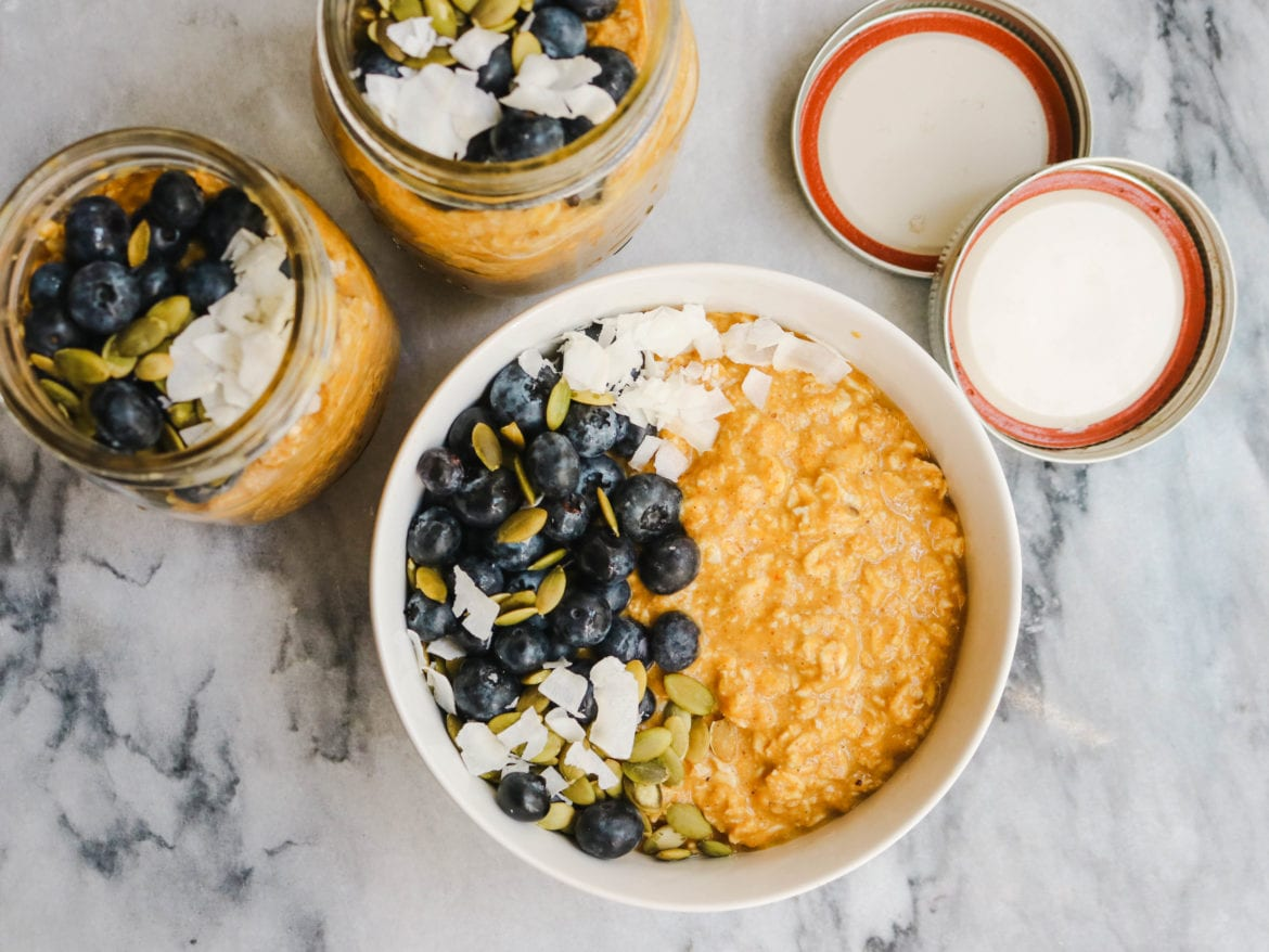 Pumpkin Spice Latte Overnight Oats Vegan From My Bowl