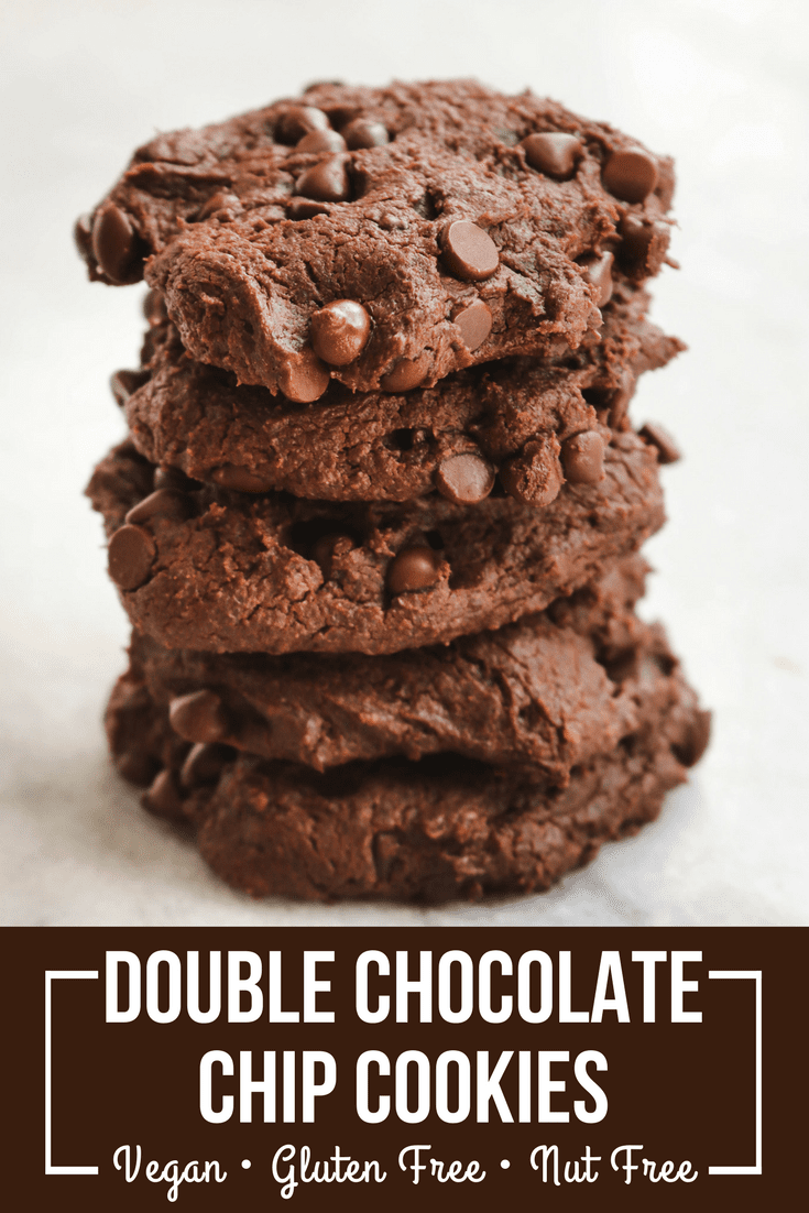 Double Chocolate Chip Cookies Vegan Gluten Free From My Bowl