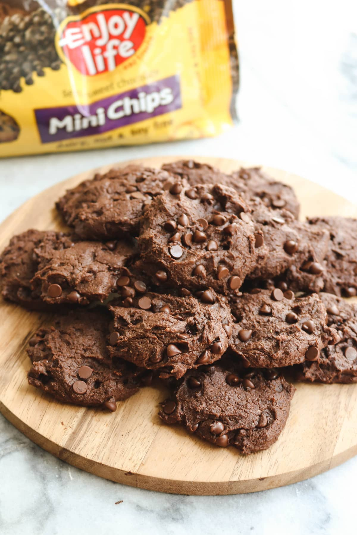 Vegan Double Chocolate Chip Cookies Gluten Free Frommybowl