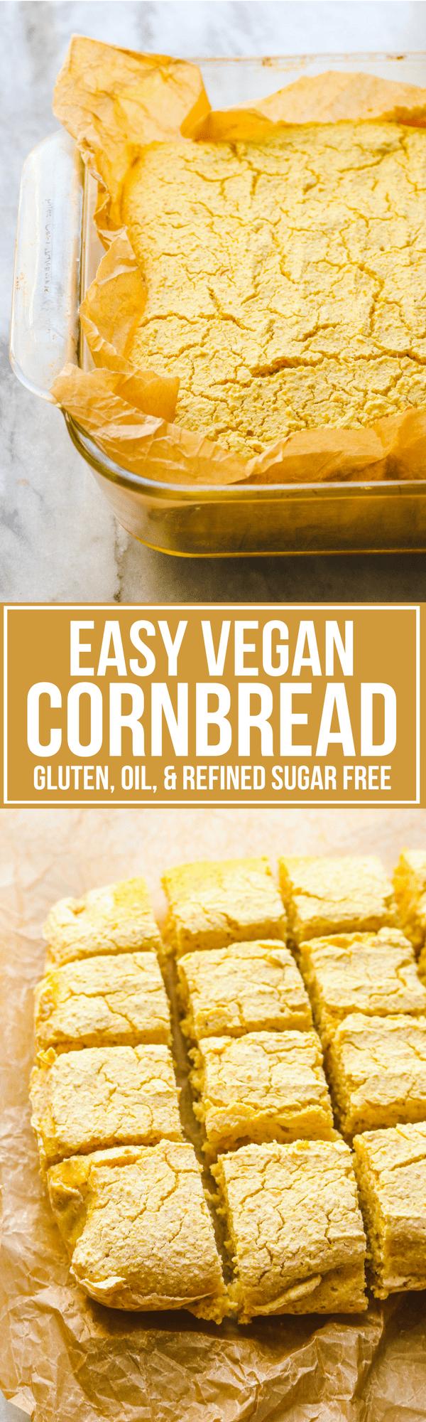 Easy Vegan Cornbread Fluffy Gluten Free From My Bowl