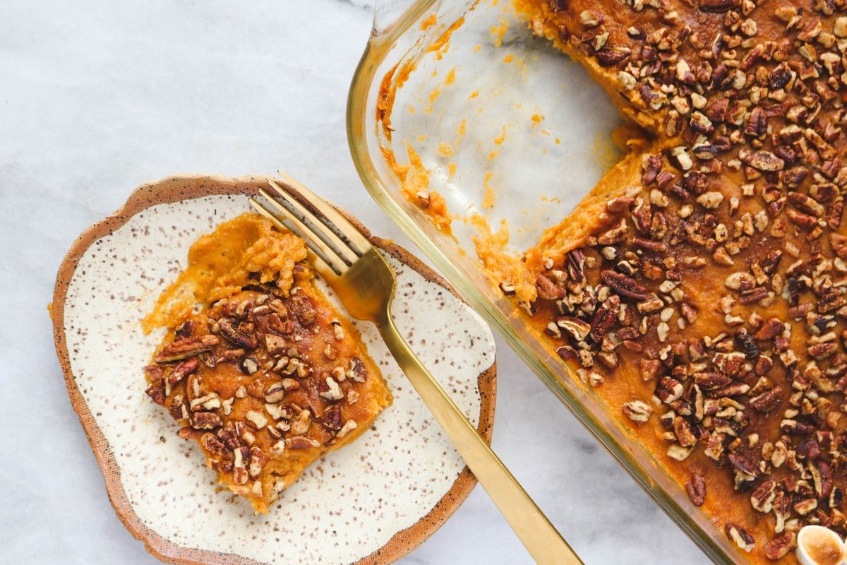 Healthy Sweet Potato Casserole Vegan From My Bowl
