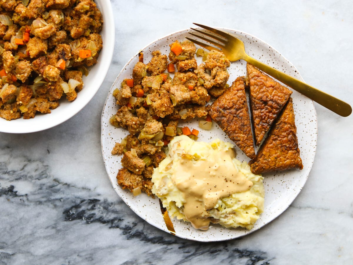 Easy Vegan Stovetop Stuffing 30 Minutes From My Bowl