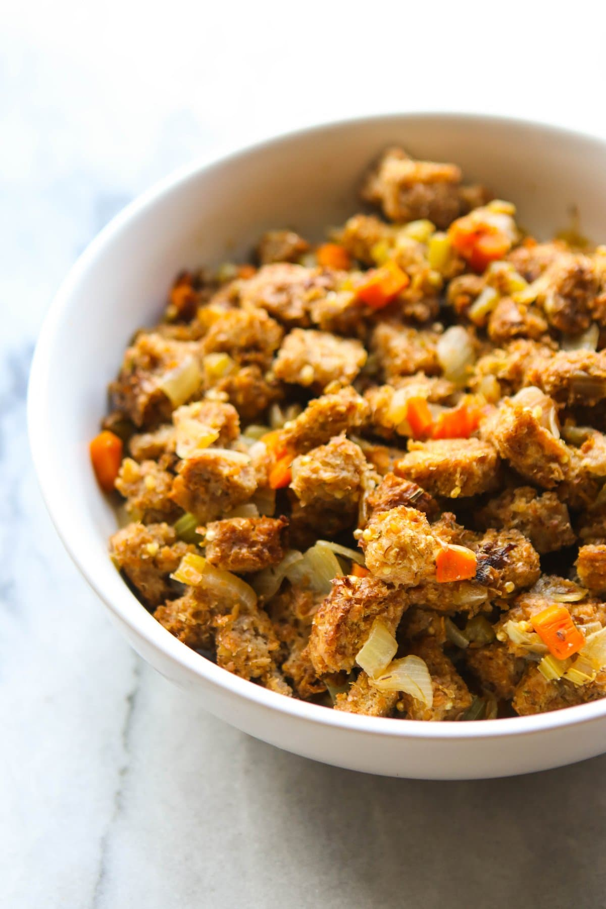 Easy Vegan Stovetop Stuffing - Healthy & Fast Holiday Recipe