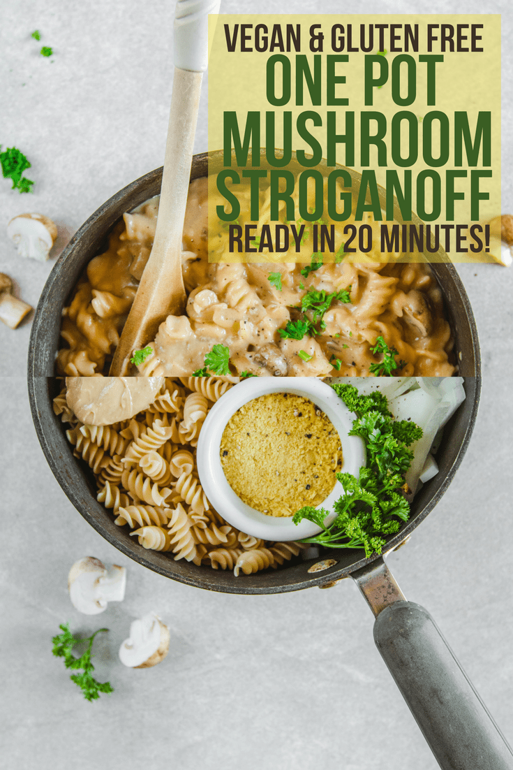 One Pot Mushroom Stroganoff Easy 20 Minute Vegan Recipe
