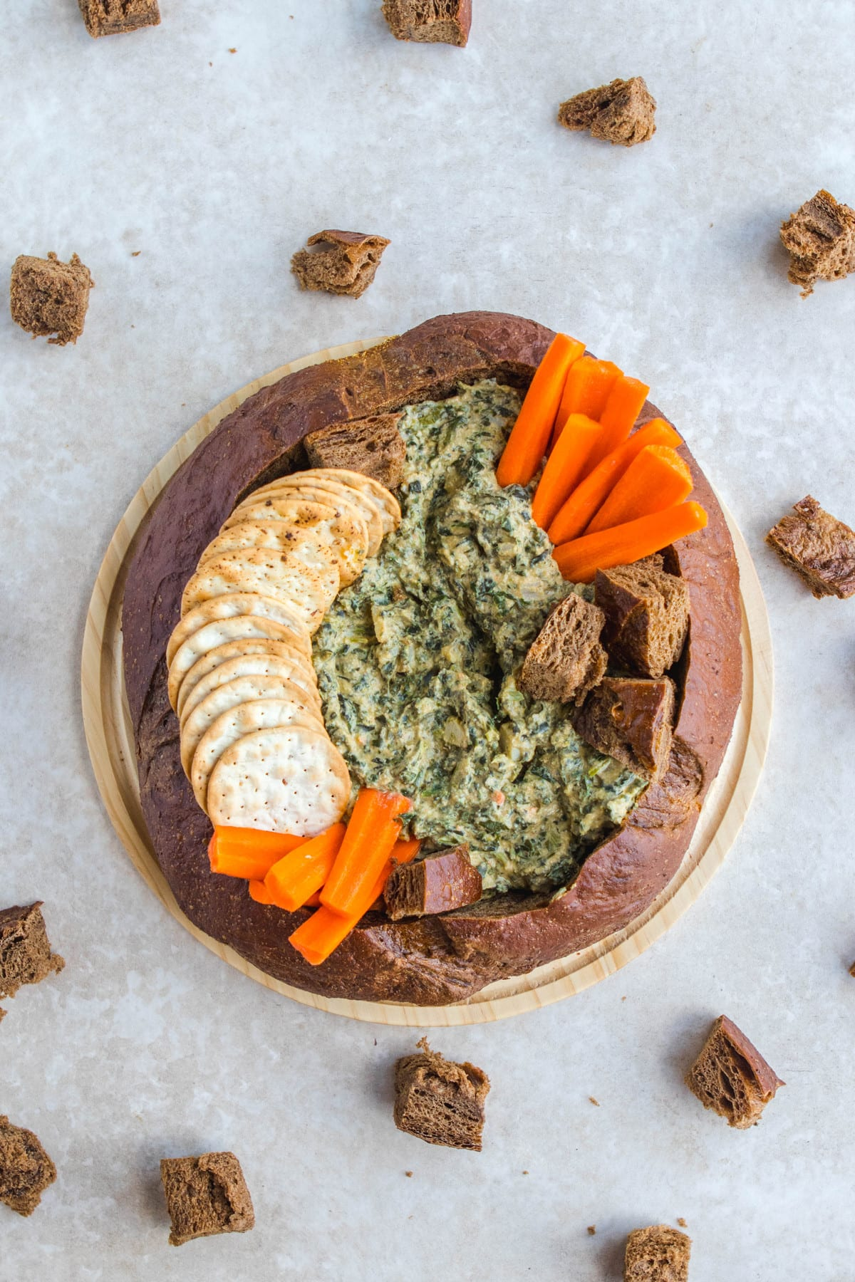 The Best Ever Homemade Vegan Spinach Dip From My Bowl