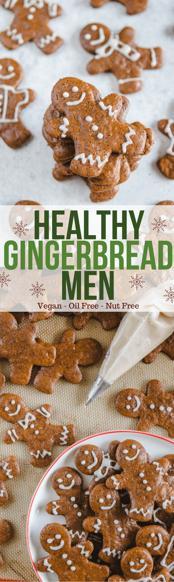 Crunchy Vegan Gingerbread Cookies - Nut Free and Healthy Holiday Recipe
