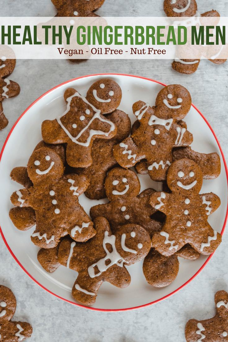 5 u 5 comfortCrunchy Vegan Gingerbread Cookies - Nut Free and Healthy Holiday Recipe