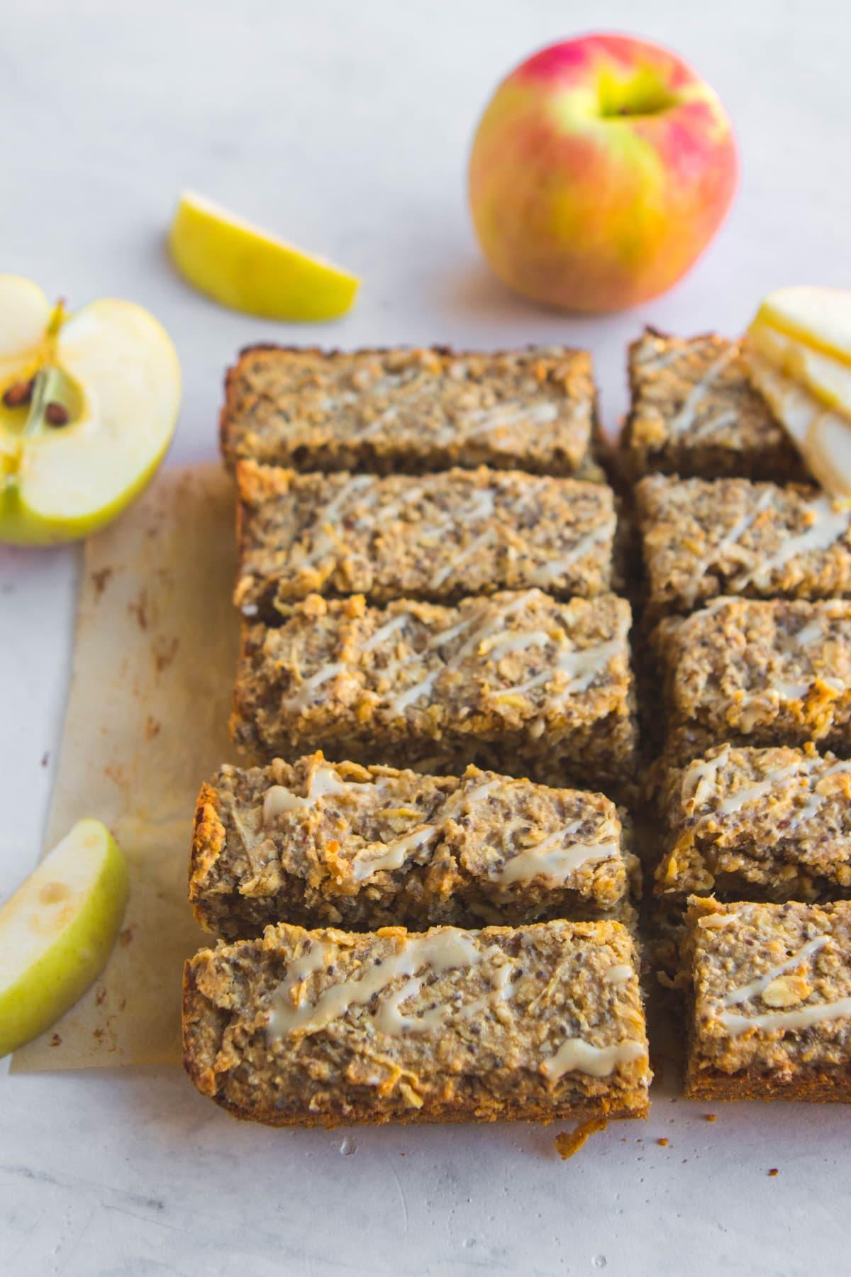 Salted Caramel Apple Breakfast Bars Vegan From My Bowl