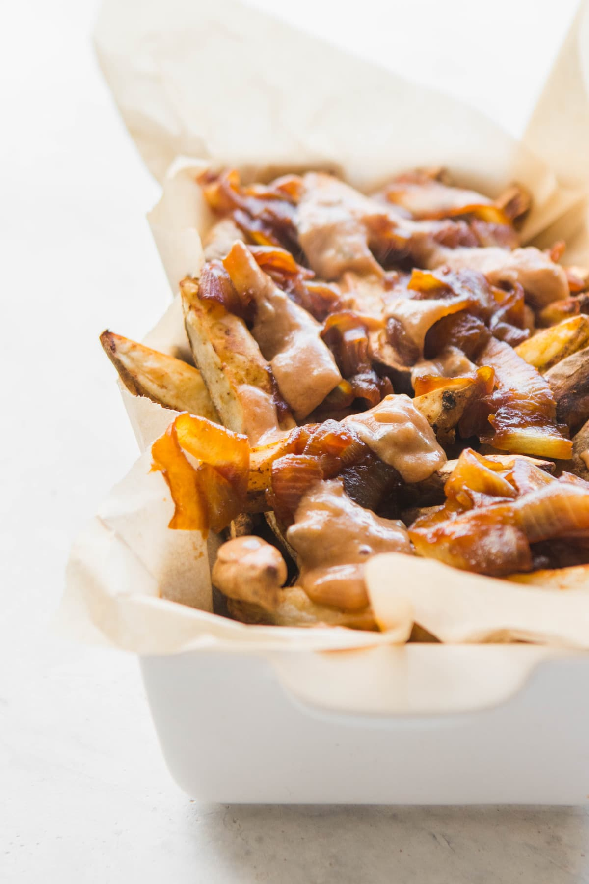 Vegan animal style fries crispy without oil from my bowl vegan animal style fries with special sauce in white container forumfinder Image collections