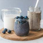 blueberry chia seed puddings righ