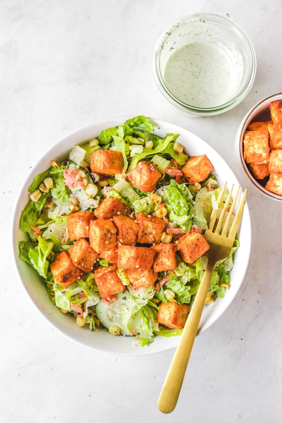 how to cook tofu for salad