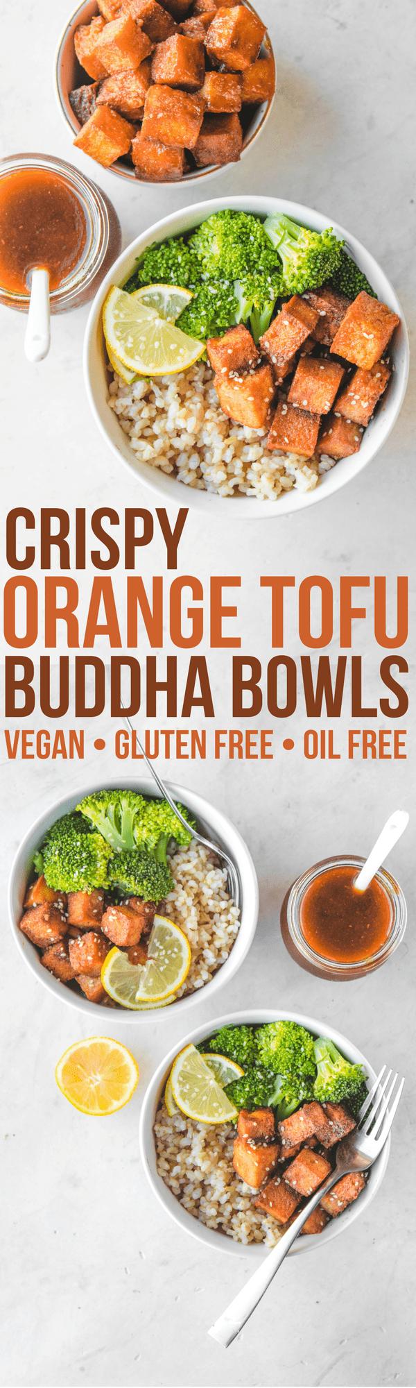 orange tofu buddha bowls pinterest