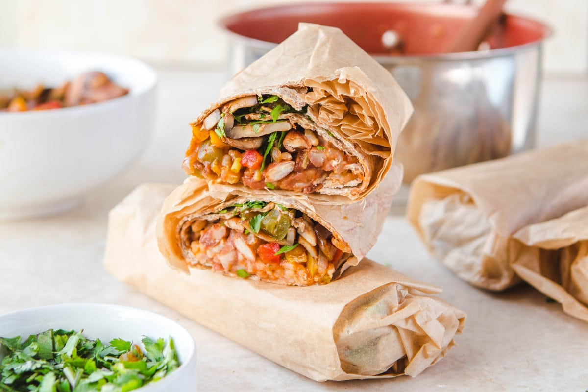 The Best Rice Bean Burritos Freezer Friendly From My Bowl