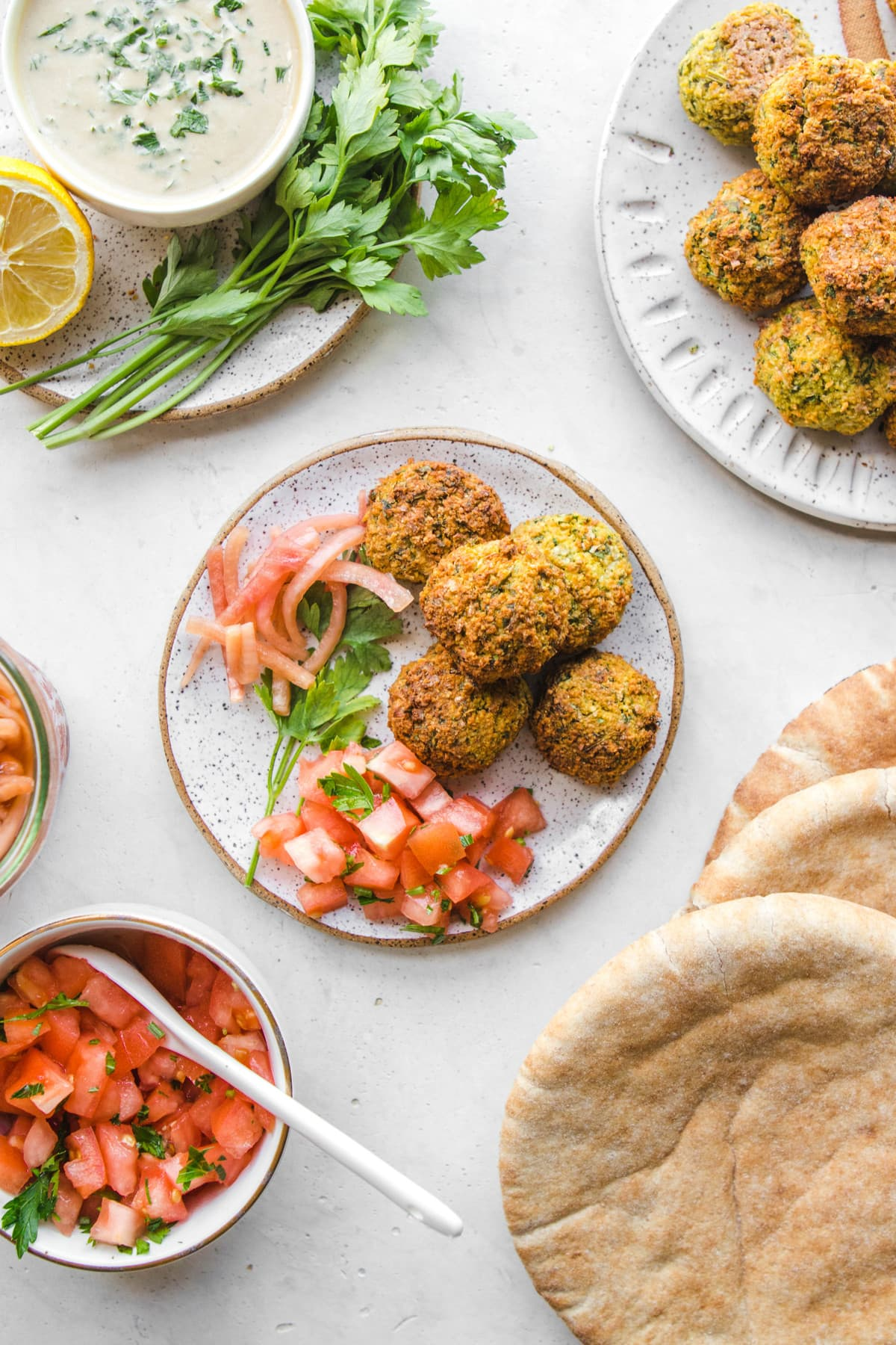 falafel with accoutrements