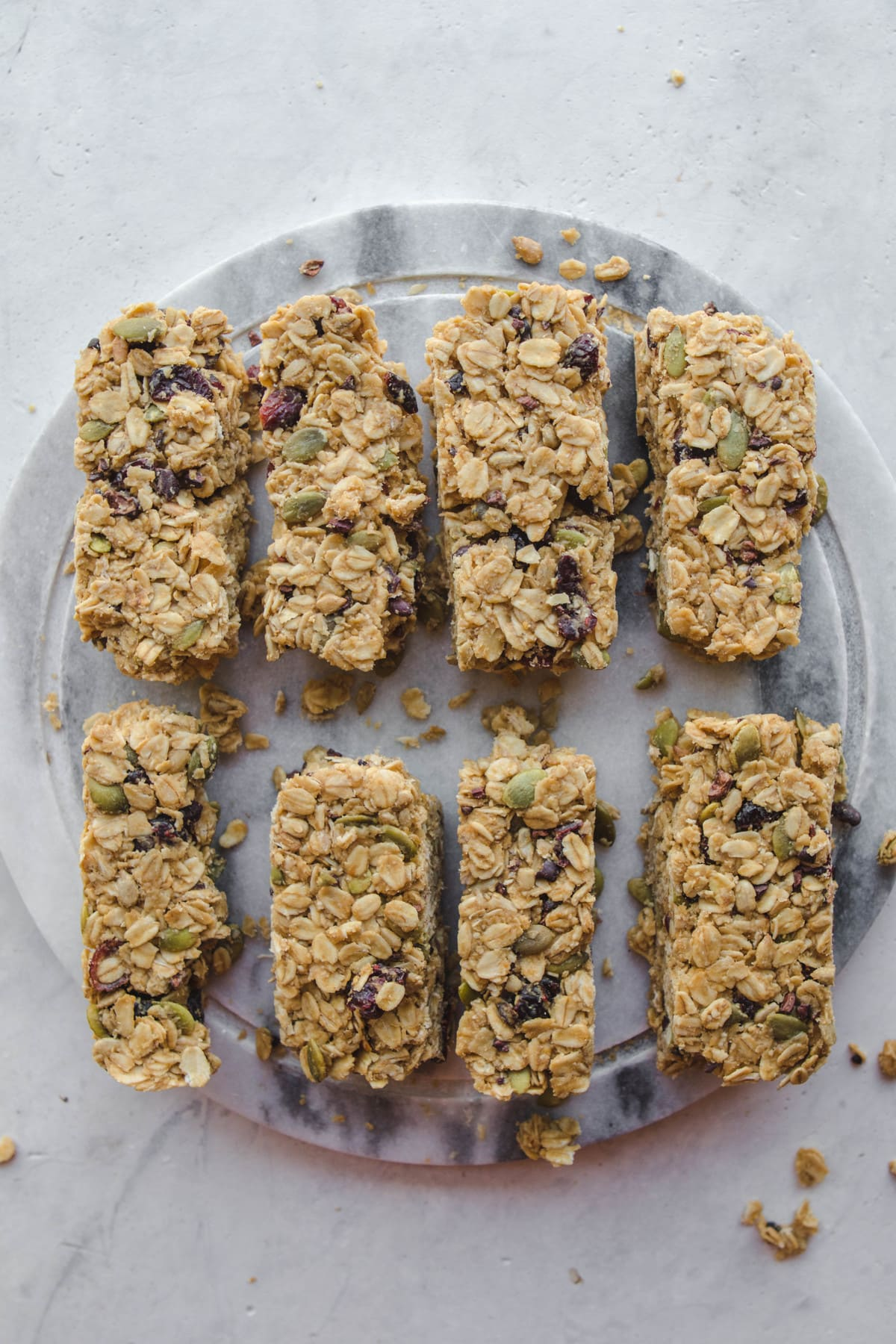 No bake granola bars vegan nut free from my bowl no bake granola bars lined up on cutting board ccuart Image collections