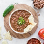 bowl of refried beans