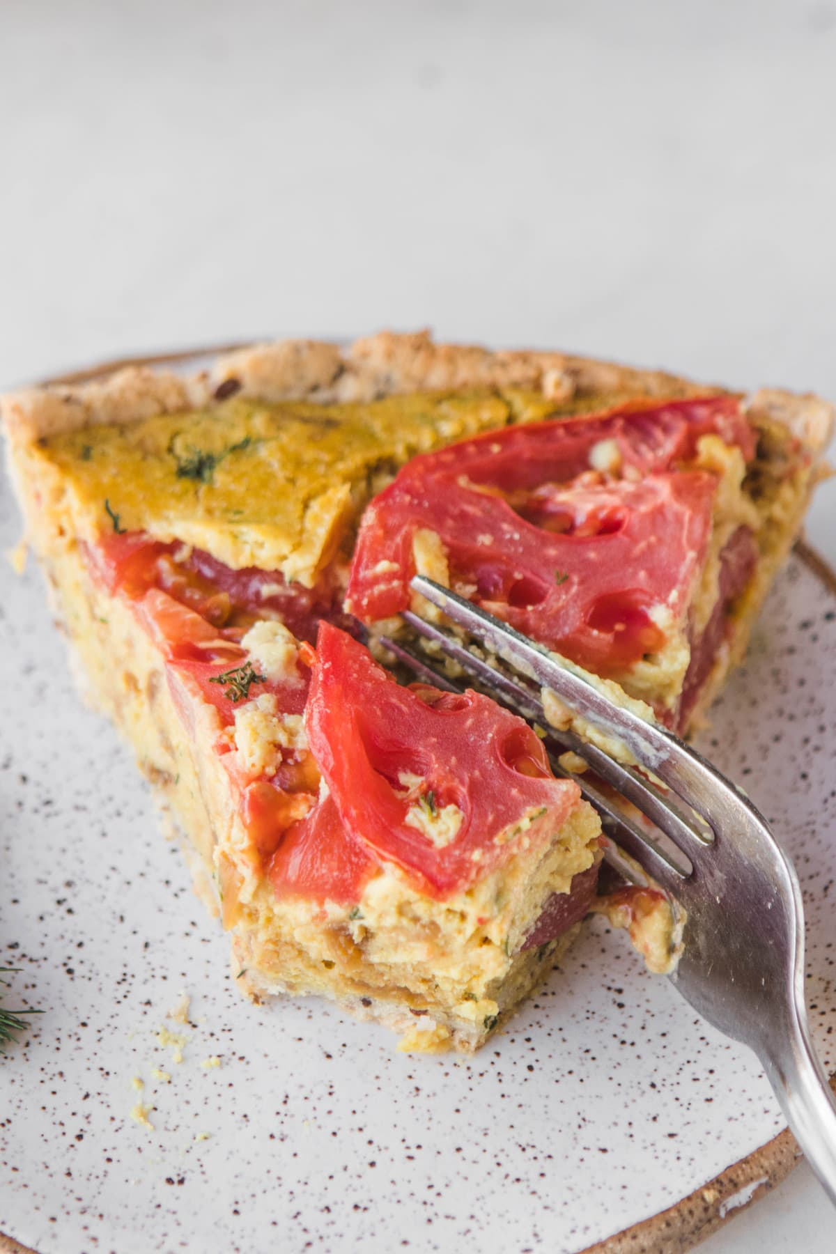 easy vegan quiche recipe gluten soy free from my bowl. Black Bedroom Furniture Sets. Home Design Ideas