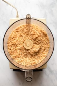 toasted coconut in food processor