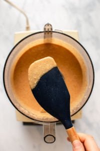 gritty coconut butter on spatula