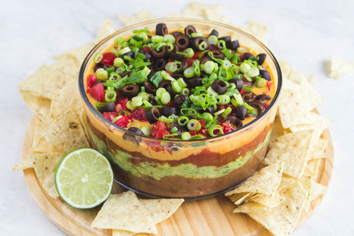 The Ultimate Vegan Seven Layer Dip