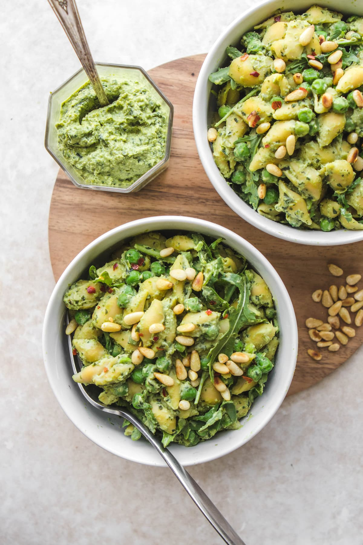Pea Pesto Pasta (Dairy-Free & Gluten-Free) - From My Bowl