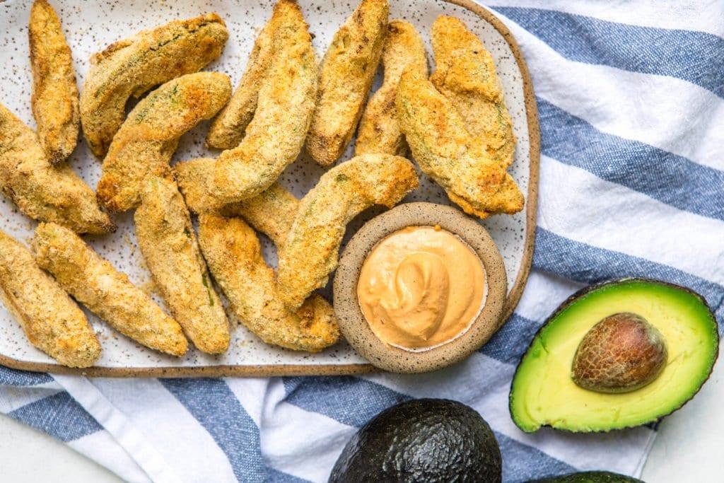Crispy Baked Avocado Fries (Vegan & Gluten-Free)