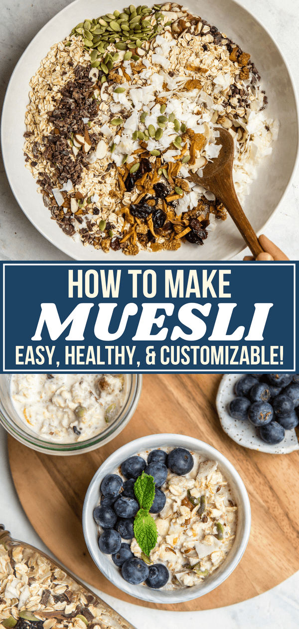 This Homemade Muesli Recipe couldn't be easier! A combination of nuts, seeds