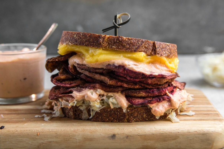 Vegan Eggplant Reuben Sandwich (Gluten Free)