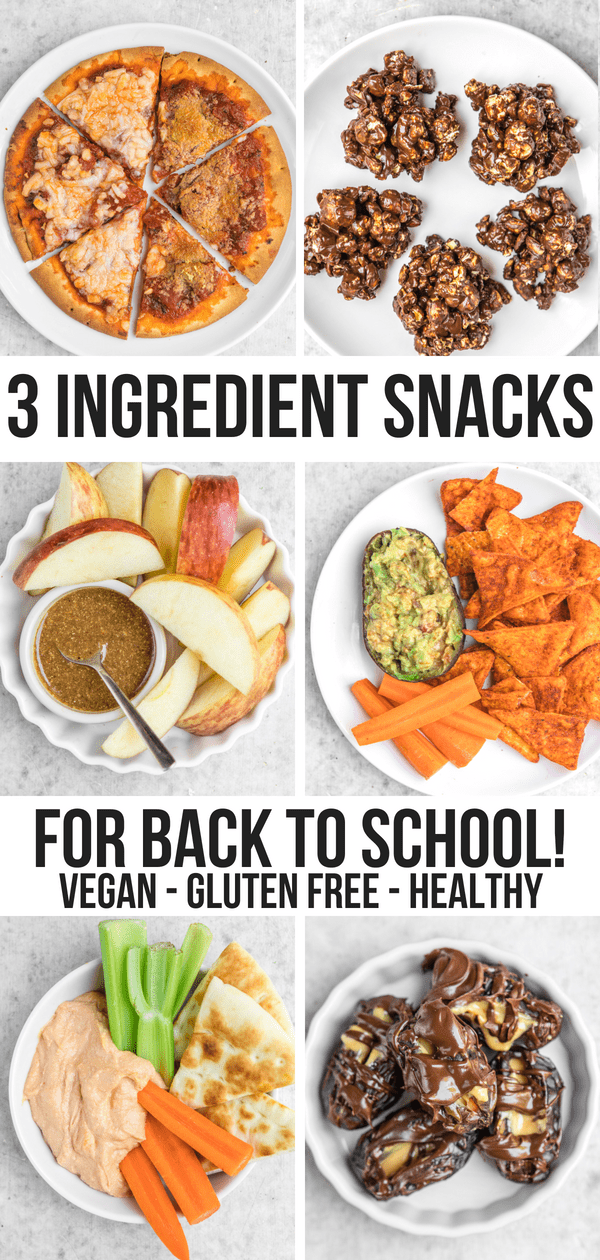 Save money AND time with these 3-Ingredient After School Snacks! They're easy to make, kid-friendly, and use simple, tasty ingredients. Plus they're vegan and gluten-free! #vegan #plantbased #backtoschool #afterschoolsnack #healthysnack #easysnack #vegansnacks via frommybowl.com