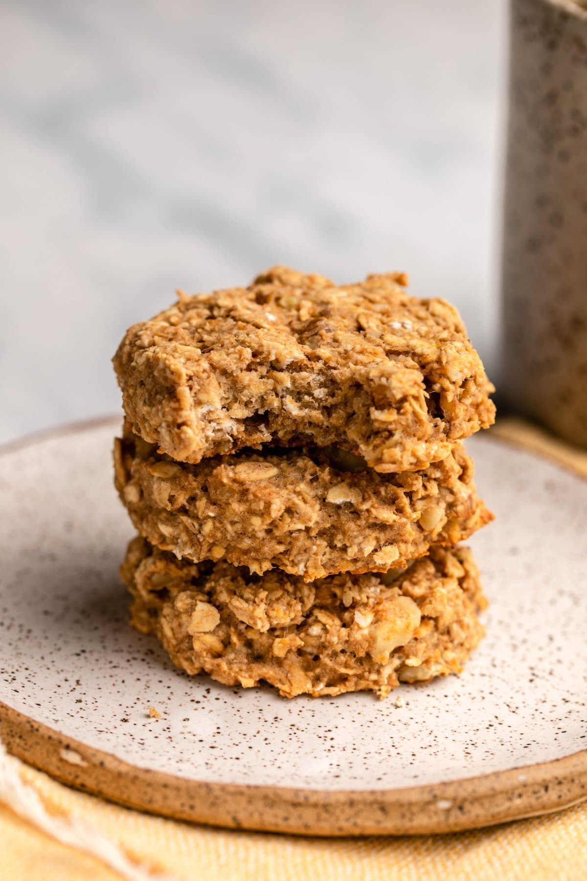Banana Oatmeal Breakfast Cookies Vegan Gluten Free From My Bowl