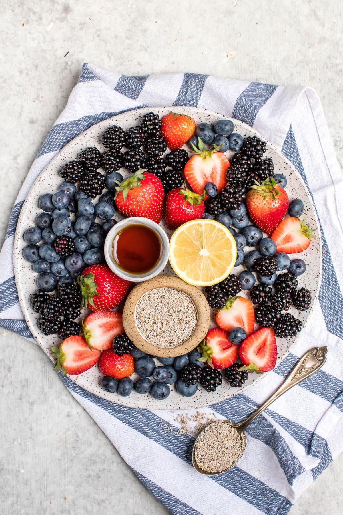 plate of fresh berries