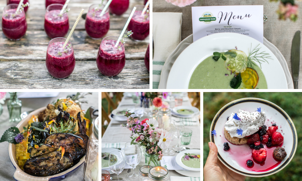 photos from the farm dinner catered by chef ryan ross