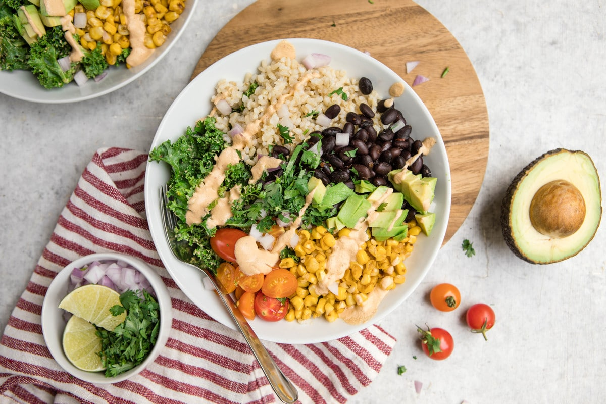 Chipotle Black Bean Burrito Bowls With Seared Corn From My Bowl