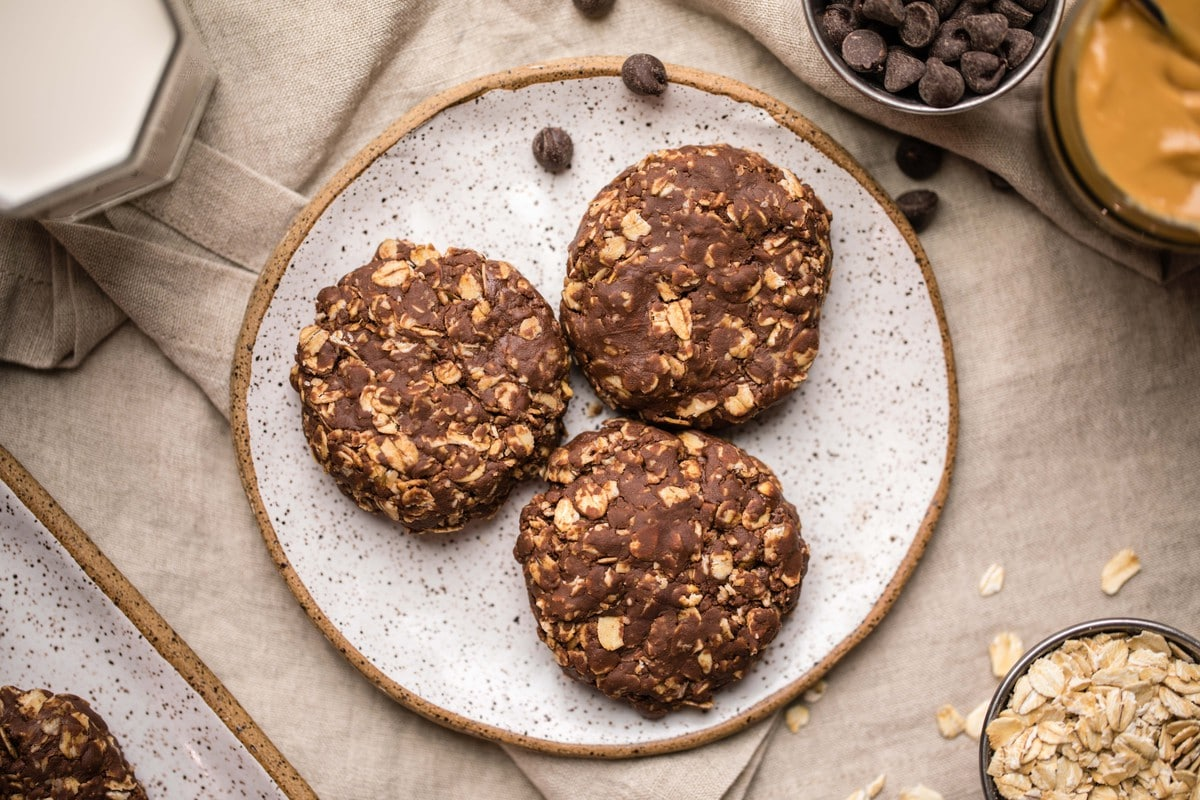 No Bake Peanut Butter Chocolate Cookies 3 Ingredients From My Bowl