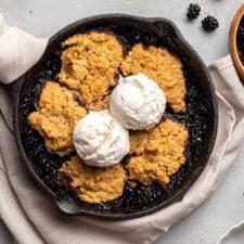 Gluten free blackberry cobbler vegan oilfree frommybowl 8 225x225