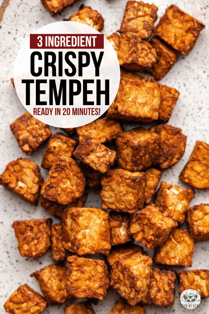 This crispy baked tempeh comes together in only 30 minutes! A perfect vegan & gluten-free plant protein to serve on salads, grain bowls, and more. #tempeh #vegan #plantbased #mealprep #oilfree | frommybowl.com