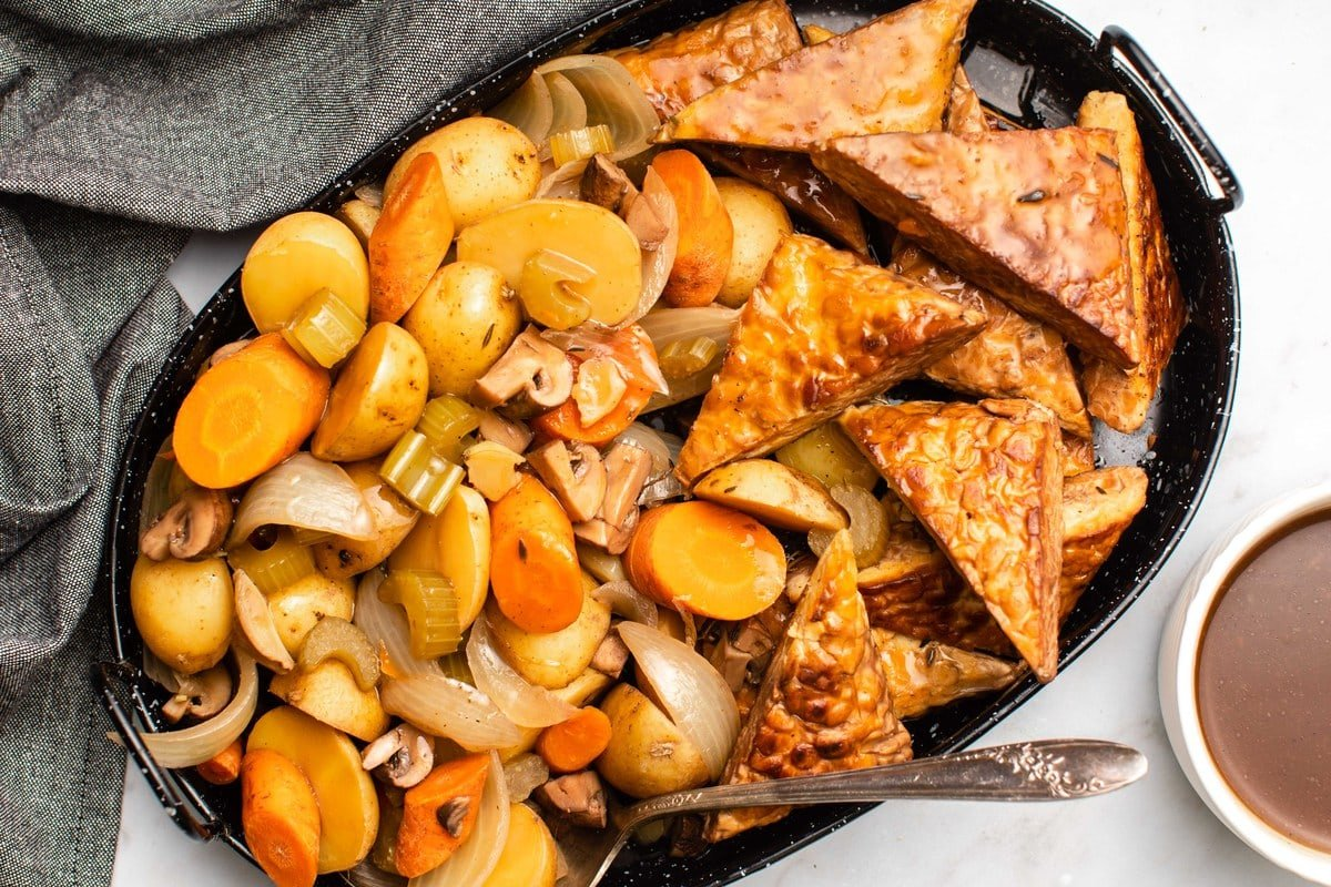 Vegan Slow Cooker Pot Roast With Tempeh From My Bowl