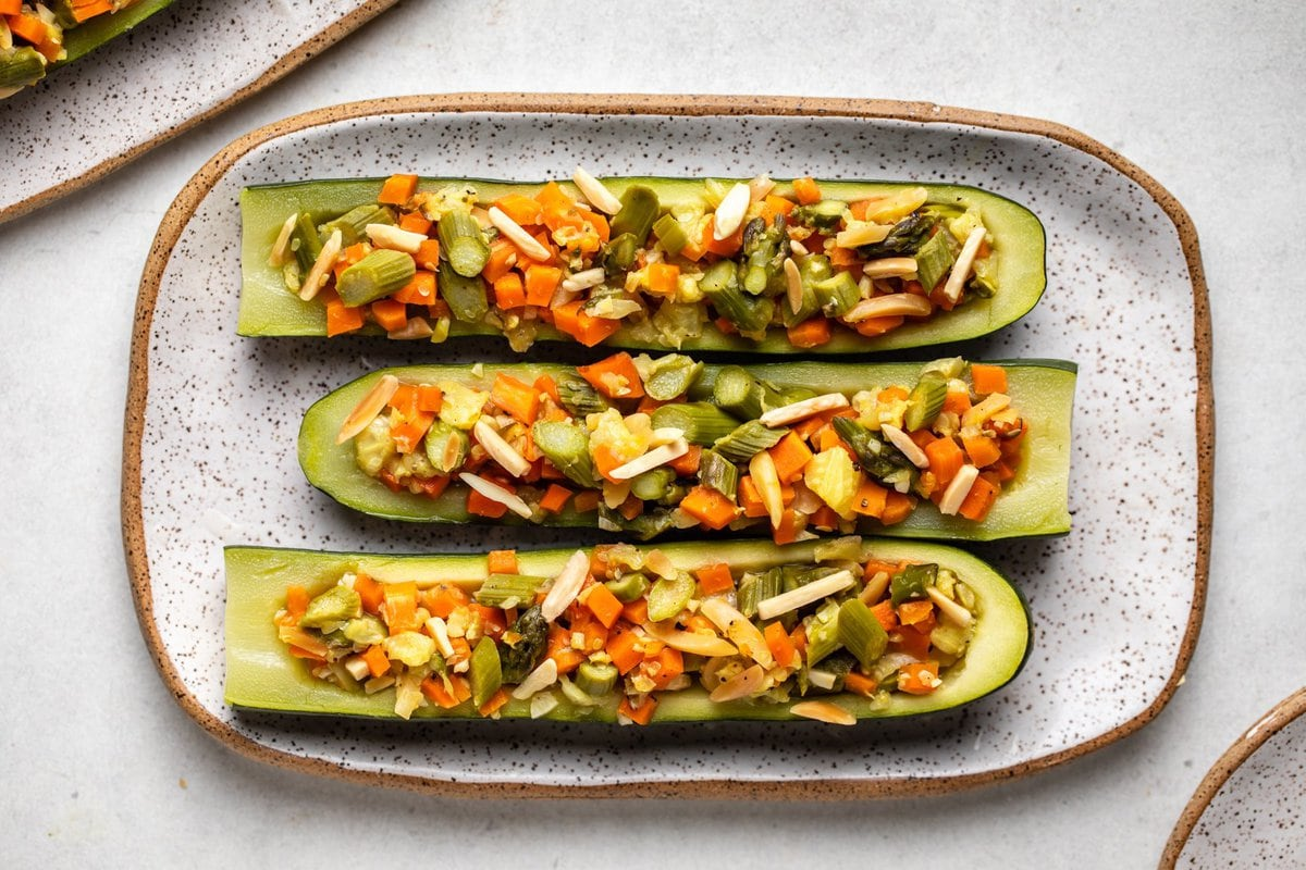 Vegetable Stuffed Zucchini Vegan Healthy From My Bowl
